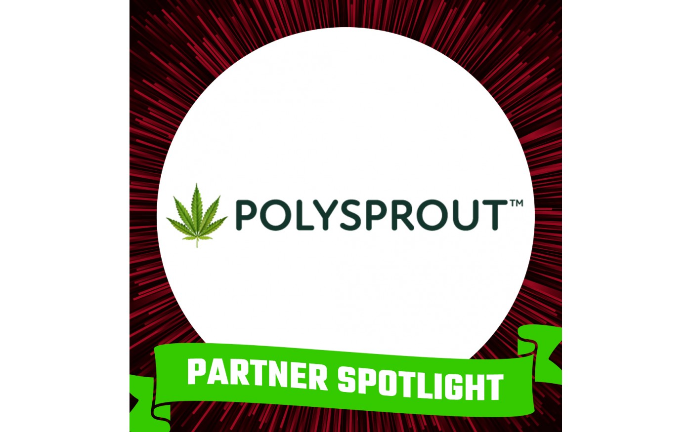 Graphic with Polysprout logo and text: Partner Spotlight