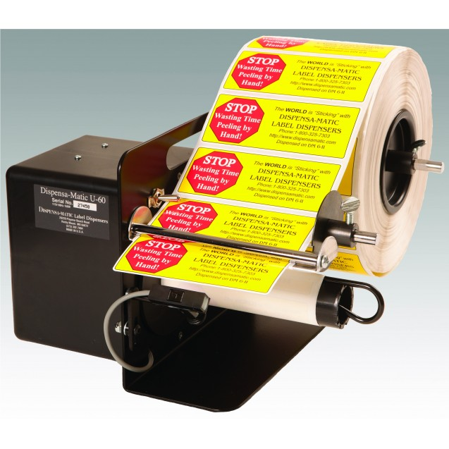 "Dispense-A-Matic U60 Label Dispenser for Labels 3/8"" to 6"" in Width"