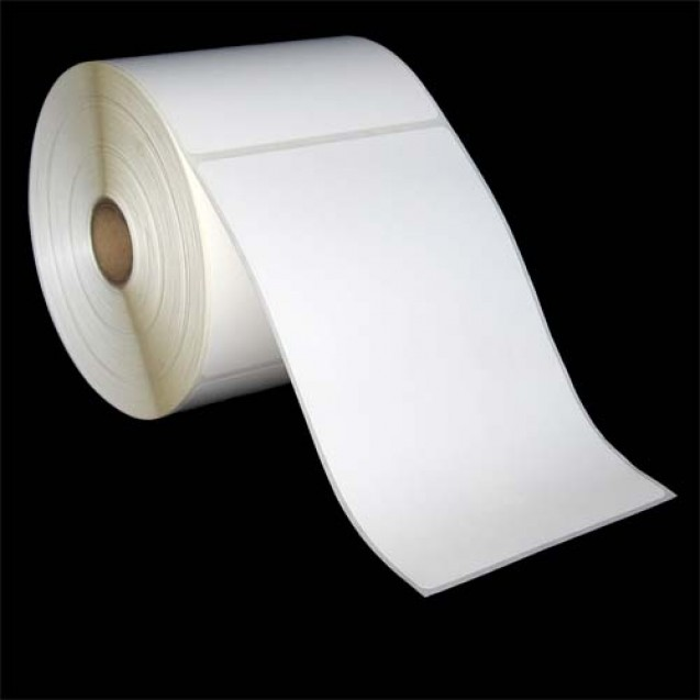 "4x6 direct thermal paper labels rolls - 5"" roll OD, 1"" core"