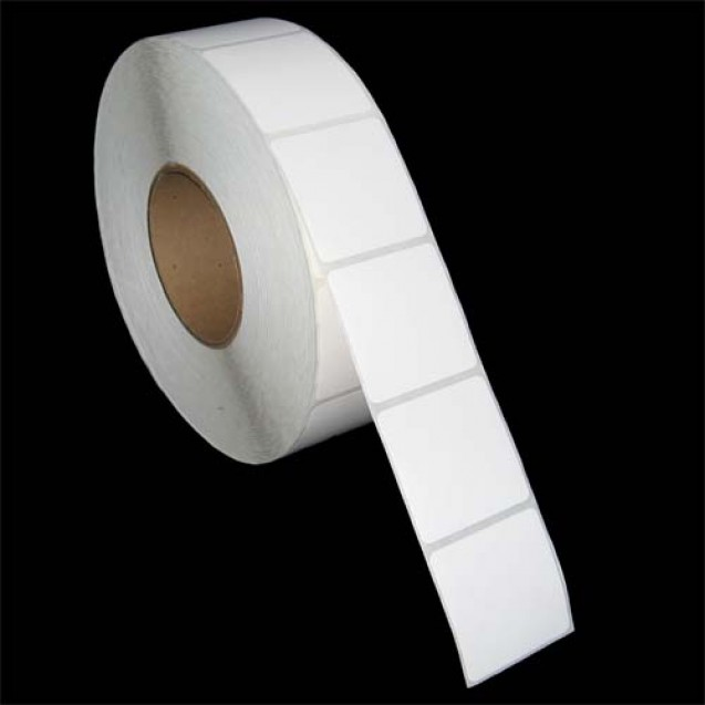 "2x2 inkjet gloss paper labels rolls - 8"" roll OD, 3"" core"