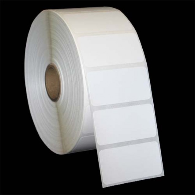 "2.25x1.25 inkjet gloss paper labels rolls - 8"" roll OD, 3"" core"