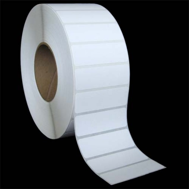 "3x1 inkjet gloss paper labels rolls - 8"" roll OD, 3"" core"