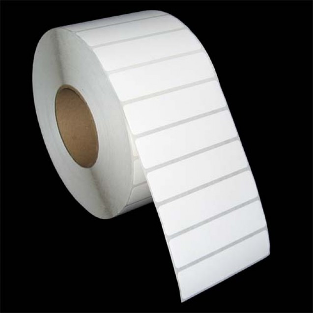 "4x1 inkjet gloss paper labels rolls - 4"" roll OD, 2"" core"
