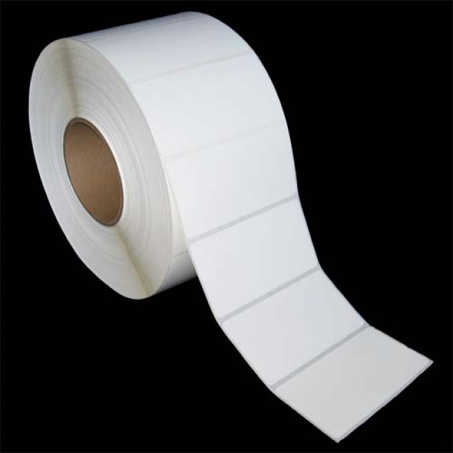 "4x2 inkjet gloss paper labels rolls - 8"" roll OD, 3"" core"