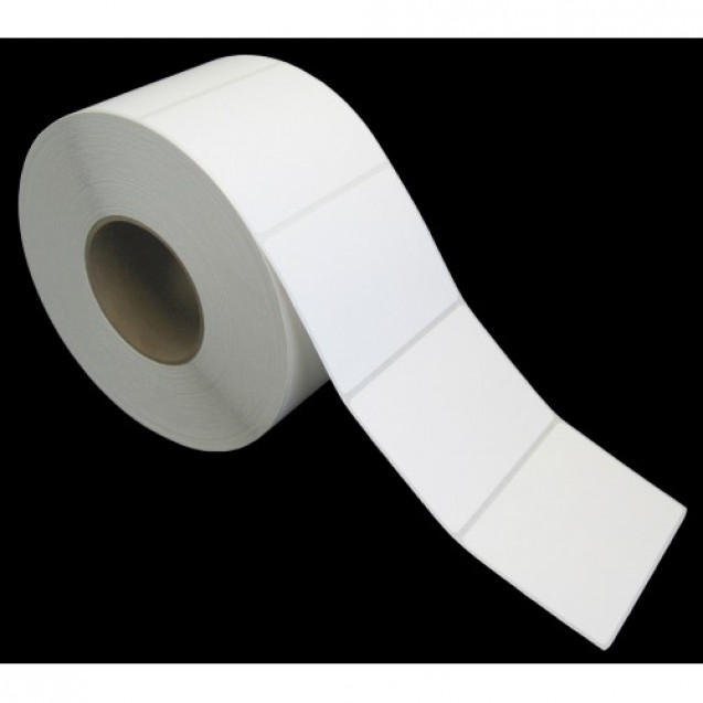 "4x3 inkjet gloss paper labels rolls - 4"" roll OD, 2"" core"