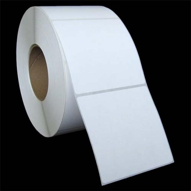 """4x4 inkjet matte paper labels rolls - 8"""" roll OD, 3"""" core"""
