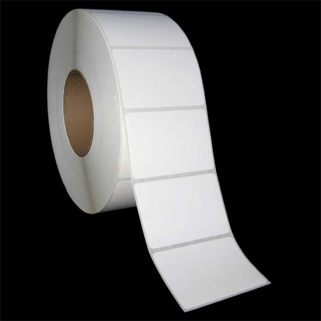 "3x2 inkjet matte film labels rolls - 4"" roll OD, 2"" core"