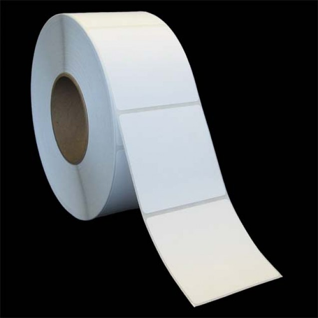 "3x3 inkjet matte film labels rolls - 4"" roll OD, 2"" core"