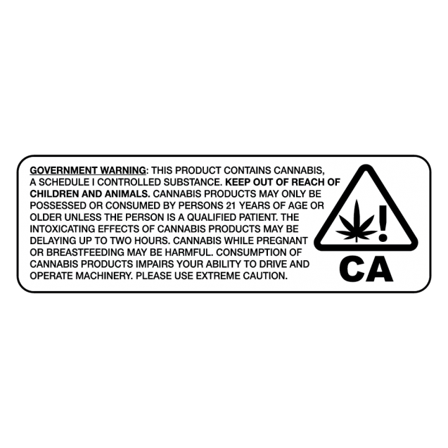California Universal Cannabis Label