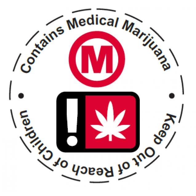 Oregon Medical Cannabis Universal Symbol Label