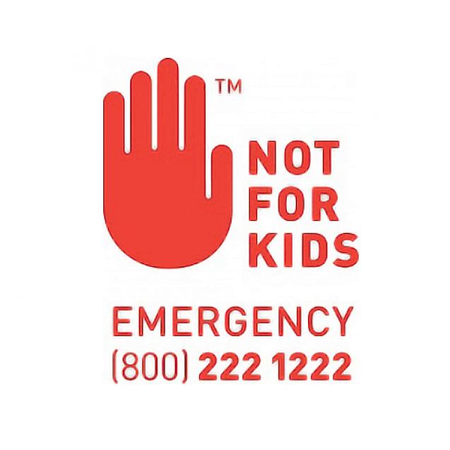 Washington Not for Kids Cannabis Label