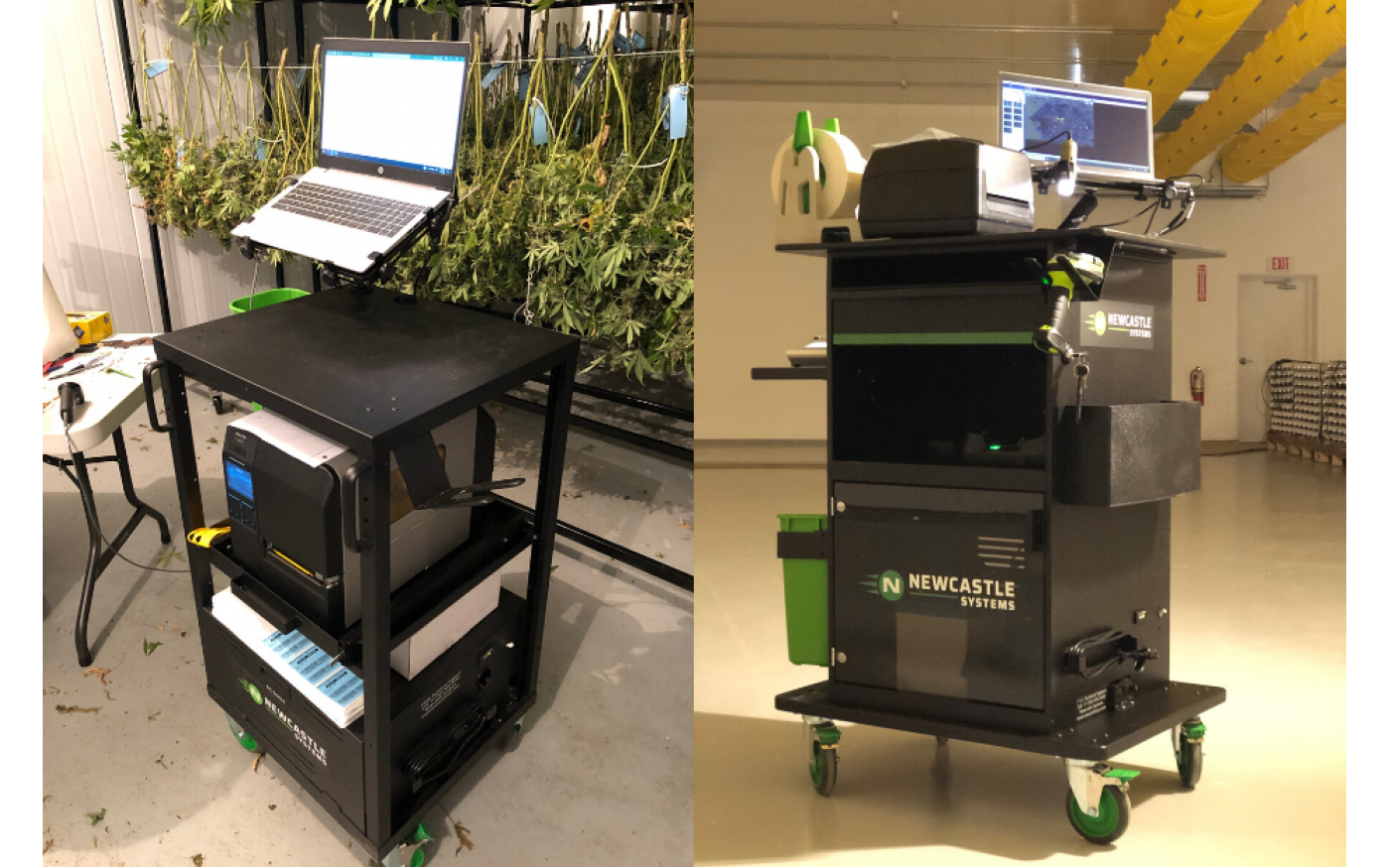 Two NewCastle Mobile Cannabis Traceability Carts