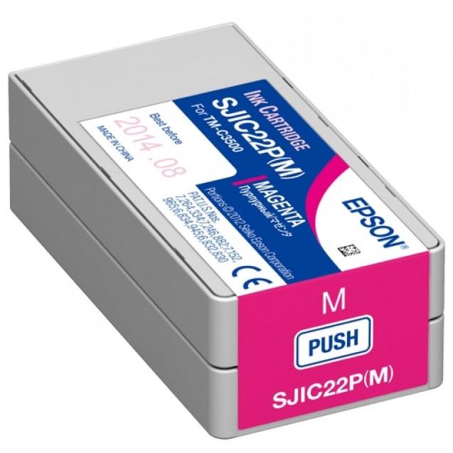MAGENTA Replacement Ink Cartridge For Epson TM-C3500 Color Label Printer
