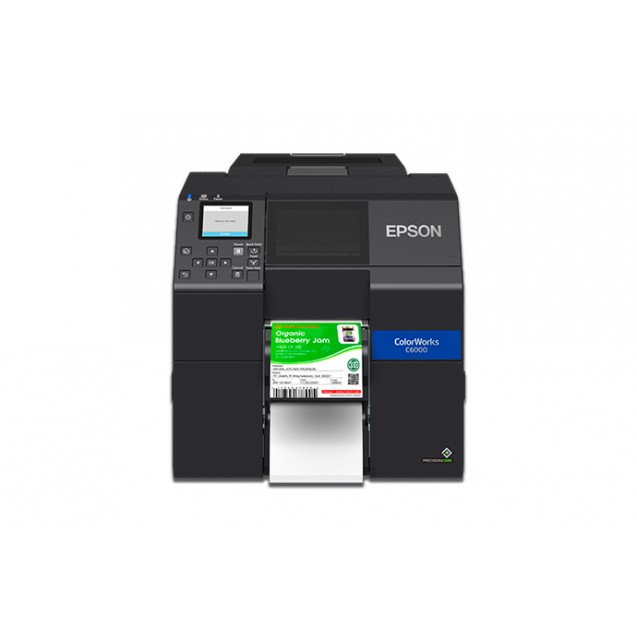 "Epson C6000P 4"" Color Inkjet Label Printer with Peel-and-Present"
