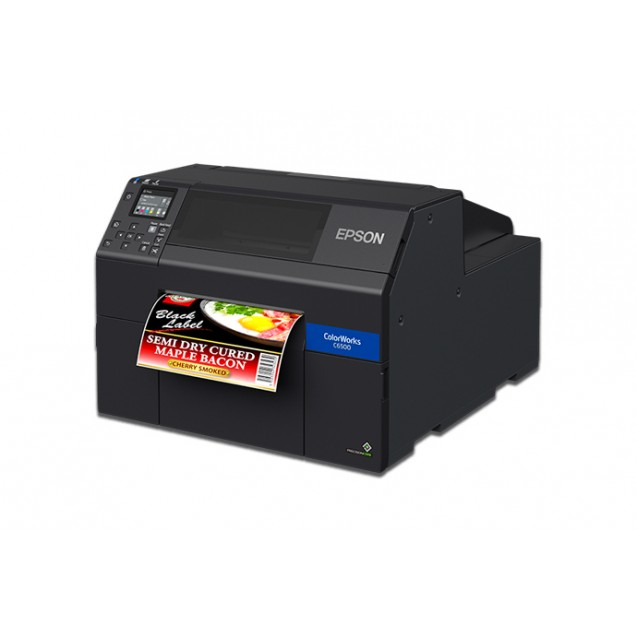 "Epson C6500A 8"" Color Inkjet Label Printer with Auto Cutter"